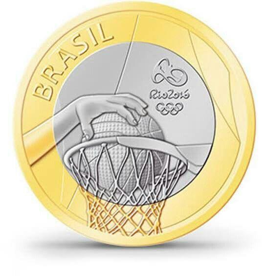 Moeda de 1 real, Jogos Olímpicos e Paralímpico Rio 2016 Basquetebol