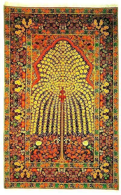 Tree of life Persian carpet, Kerman