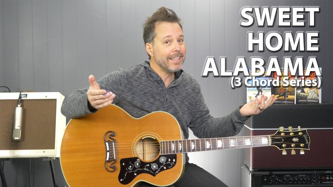 Sweet Home Alabama By Lynyrd Skynyrd 3 Chord Series Easy Guitar