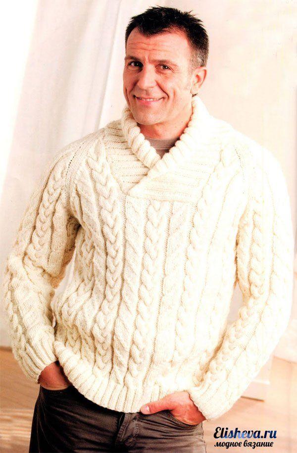 Мужские пуловеры вязать
