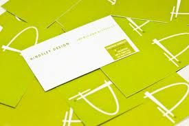 Business Card Color Green Clean Simple Typeface Business Cards Creative Business Card Design Stunning Business Cards