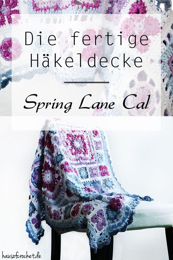 Die fertige Häkeldecke - Spring Lane Cal von Drops Design   Manta