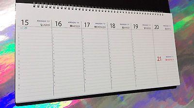 Planning maxi 2017 2018 da tavolo settimanale 42x21cm - Agenda da tavolo settimanale ...