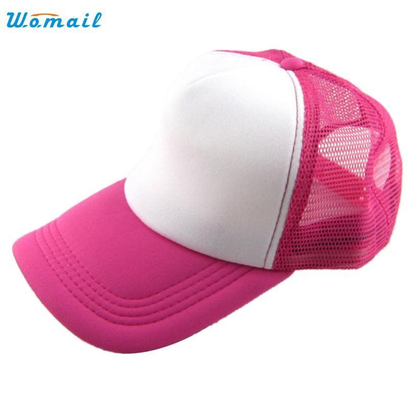 2388ff2919c Amazing Unisex Casual Hat Solid Baseball Cap Mesh Blank Visor Hat  Adjustable Sports Cap for Men
