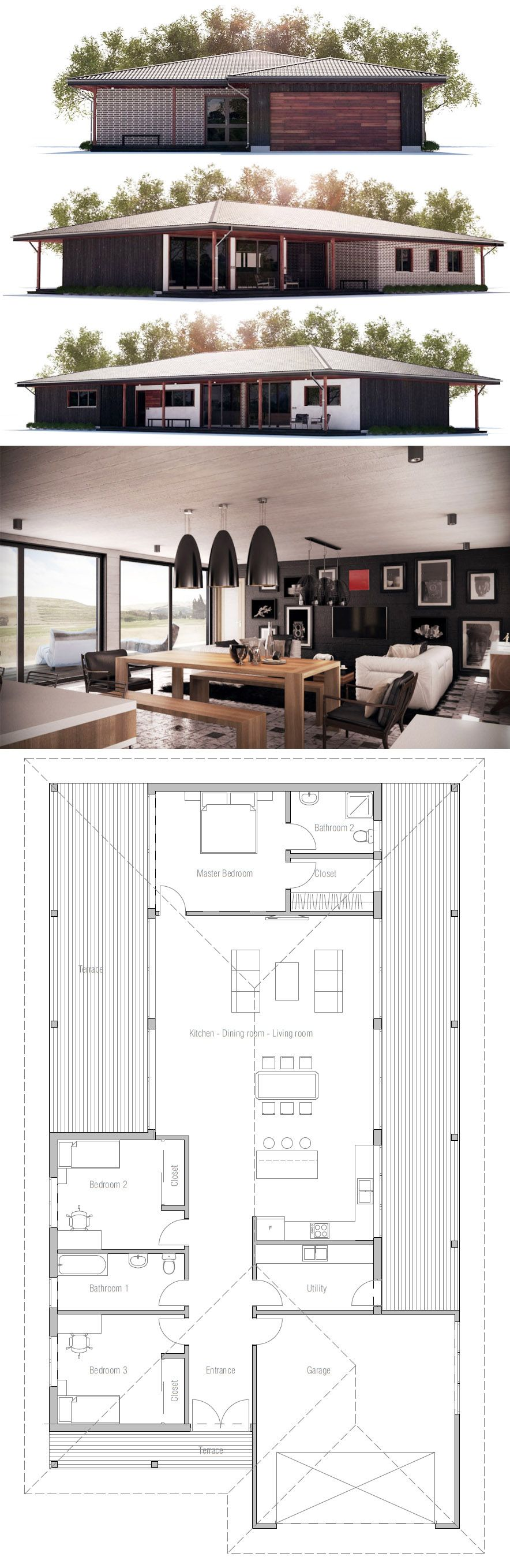 House Designs Home Plans Home Designs Adhouseplans Homeplans Houseplans Architecture Architecture House Small House Plans Bungalow House Plans