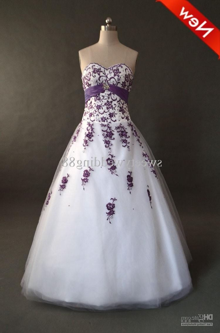 Wedding Dresses With Plum Accents Purple White Wedding Wedding Bridesmaid Dresses Purple Wedding Dress [ 1132 x 750 Pixel ]