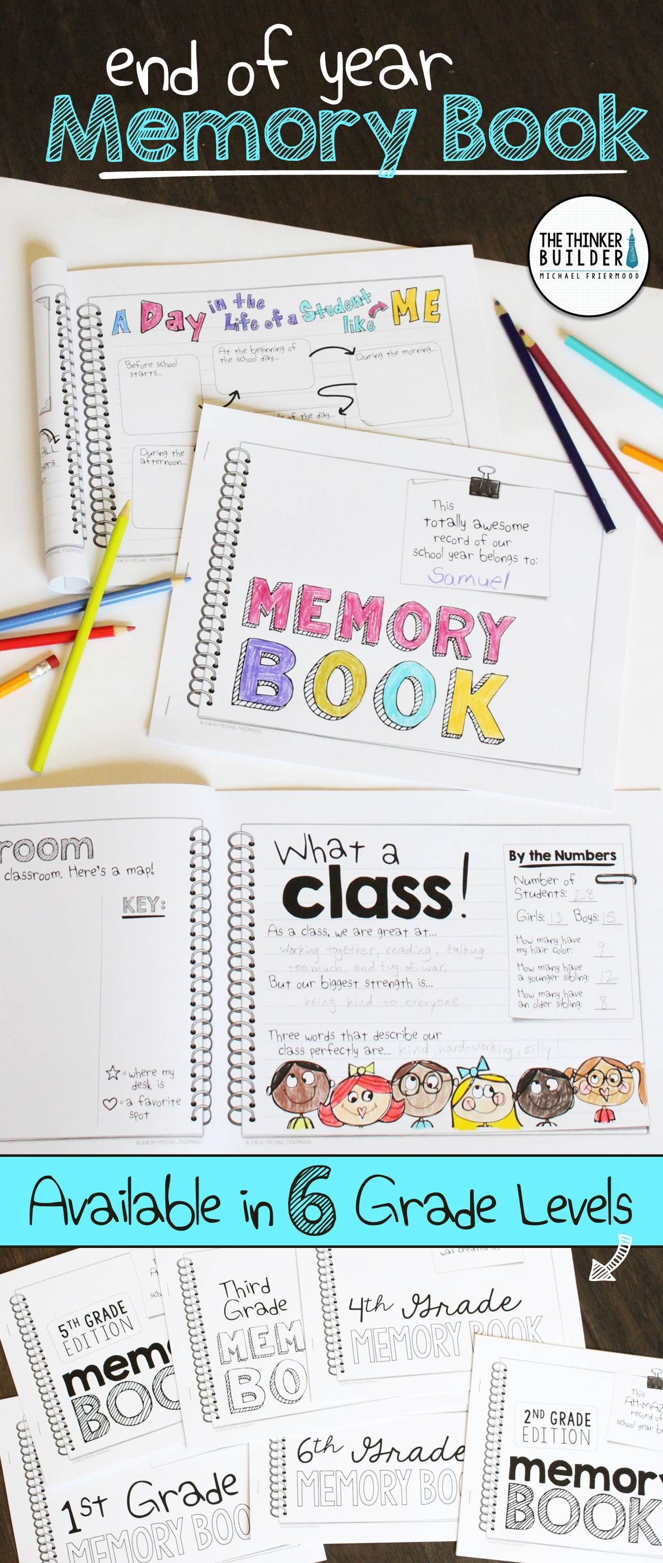 End Of The Year Memory Book Non Grade Specific