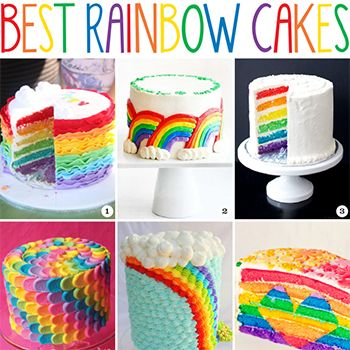 The Best Rainbow Cakes With Images Rainbow Cake