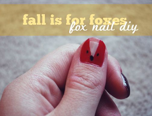 Fox Nail Tutorial via #ShannonBear