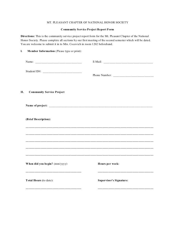 Community Service Project Form  American Heritage Girls