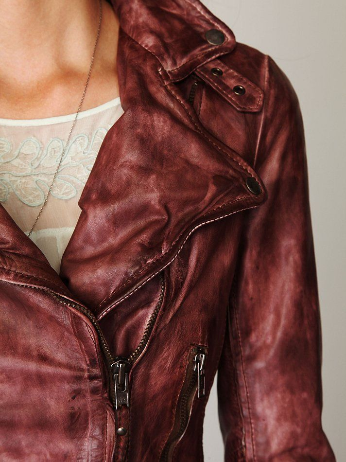 Vintage Wine Colour Leather Jacket I Would Like This If It Was