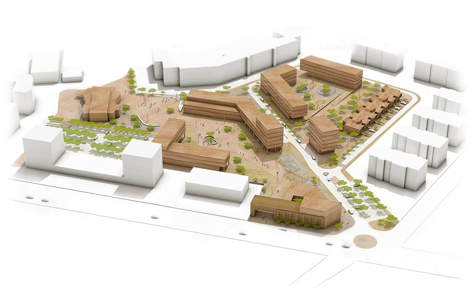 Masterplan of a disused industrial area bergamo italy for Architecture firms in italy
