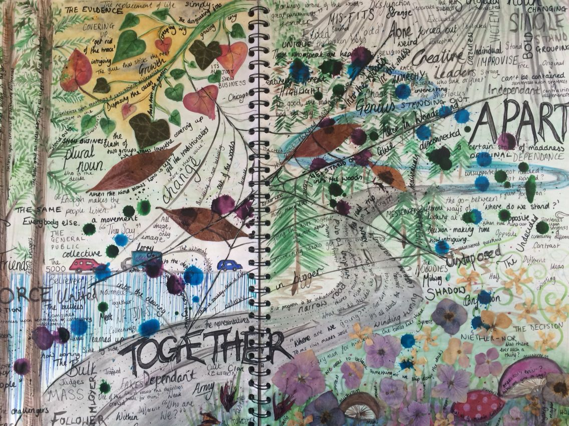 Apart And Together Natural World Gcse Art Project Mind Map Mind Map Art Gcse Art Art Projects