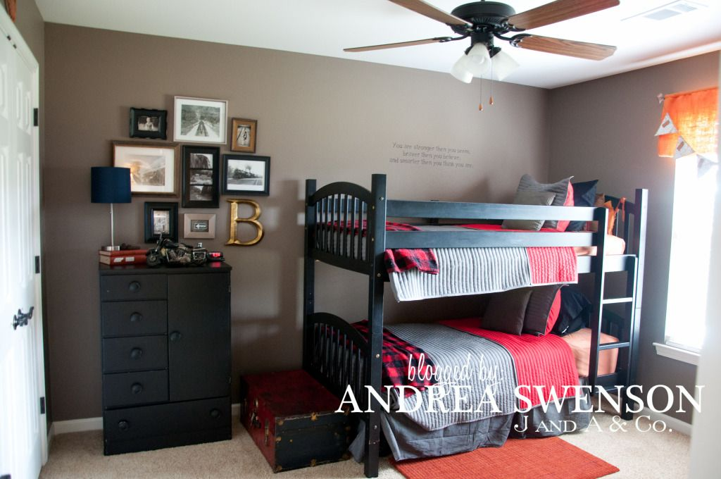 J A And Co House Tour Boys Room Boys Room Colors Furniture Color Schemes Black Furniture