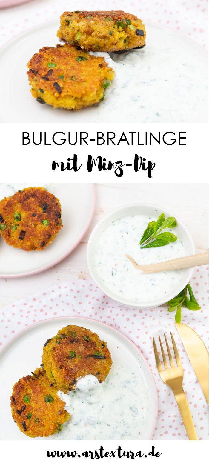 Vegetarische Bulgur-Bratlinge mit Minze-Joghurt-Soße | ars textura – DIY-Blog #beefbake