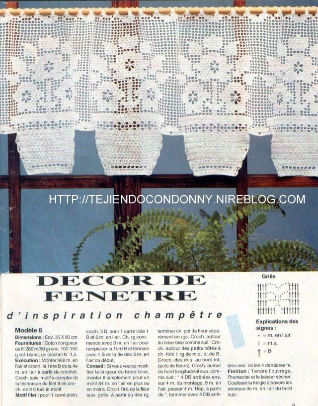 TEJIDOS A CROCHET - GANCHILLO - PATRONES: CORTINA PARA COCINA ...