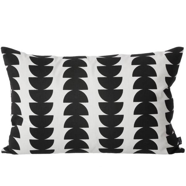 Black Semicircle Cushion Black And White Cushions Pillows Velvet Pillows