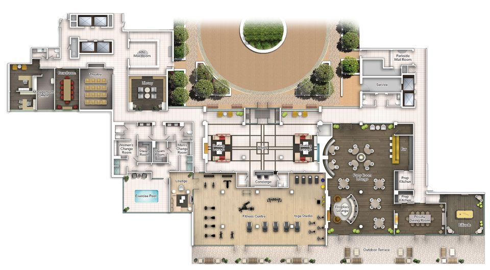 Rooftop Amenity Plan Google Search Bar Plans Warehouse Plan Apartment Building