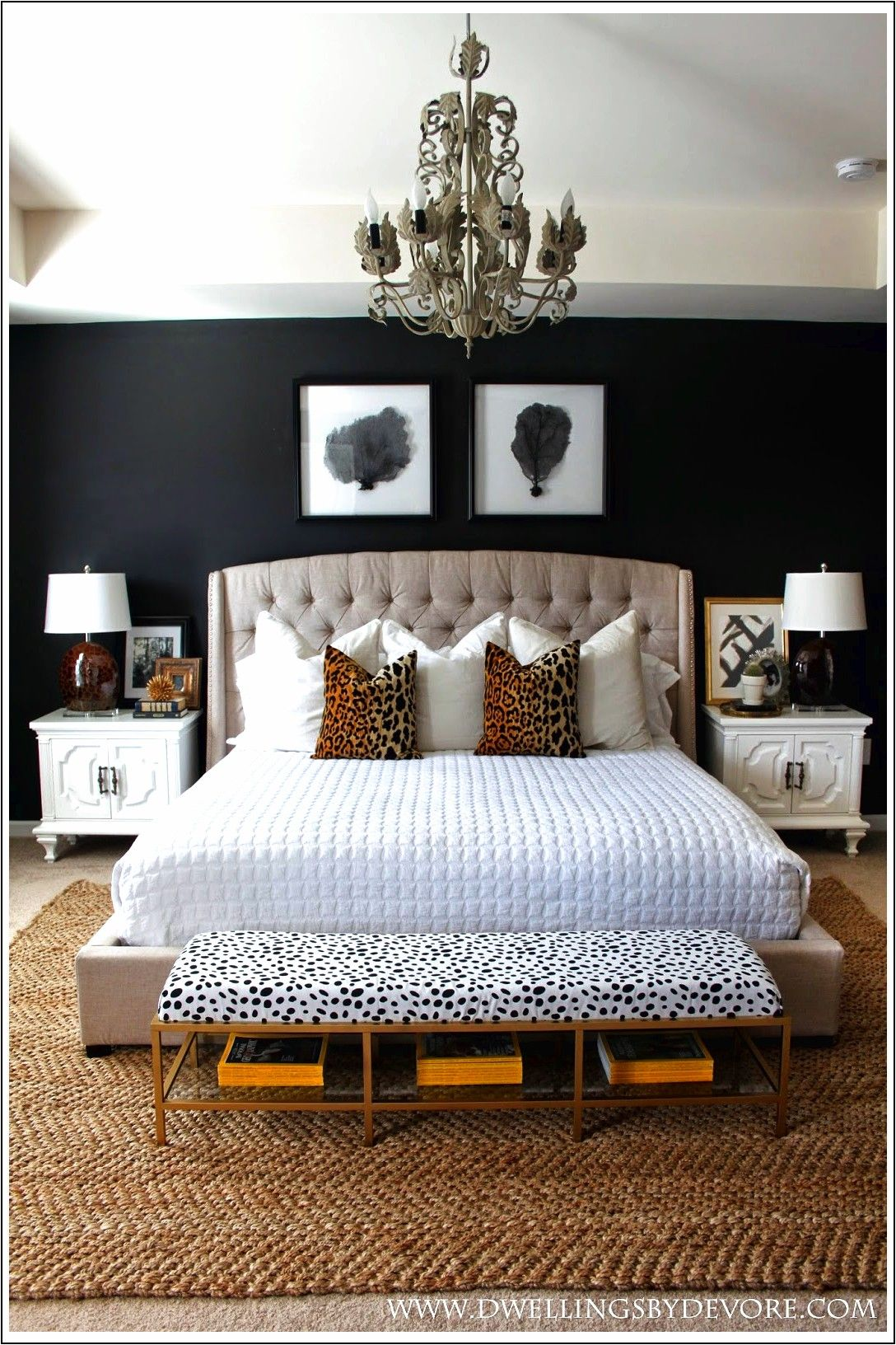 Camera Da Letto Bianca E Nera 15 lussuose camere da letto in nero e oro | lussuose camere