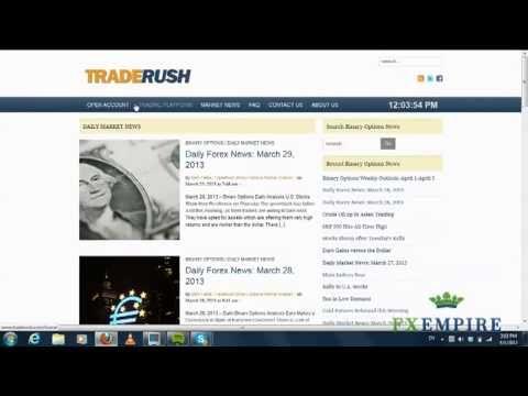 Traderush binary options strategy binary options for dummies