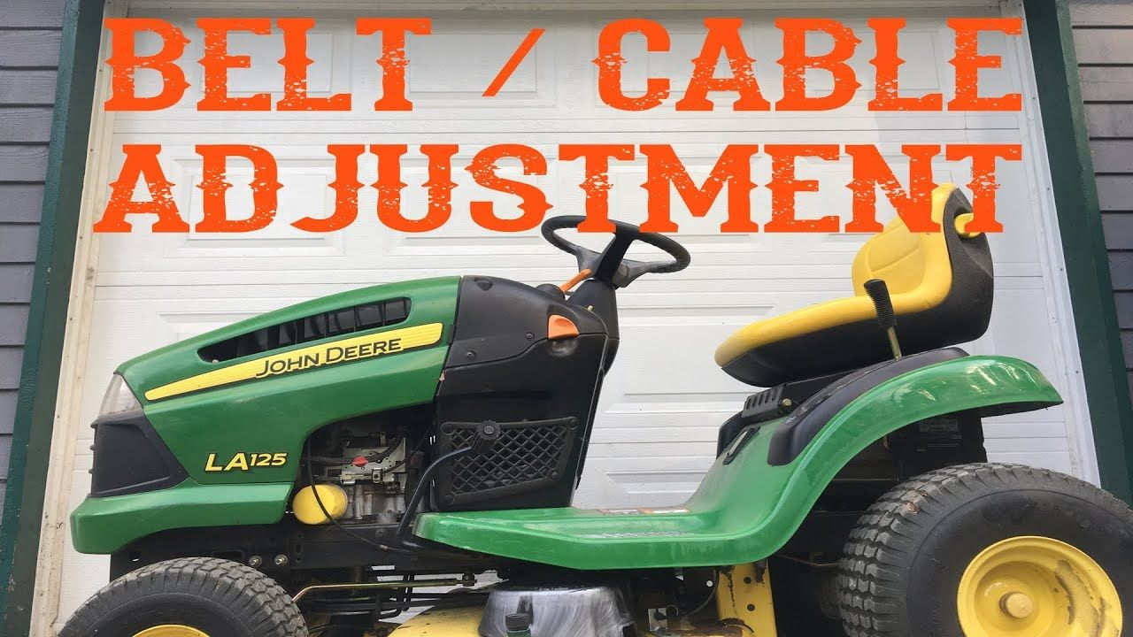 How To Adjust The Belt Tension On A Riding Mower Lawn Mower Lawn Mower Repair Lawn Mower Tractor