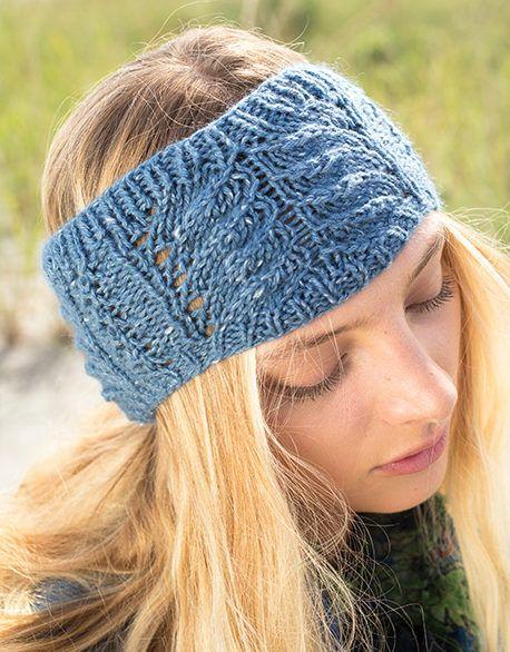 Free Knitting For Macaron Headband Lace Earwarmer From Berroco