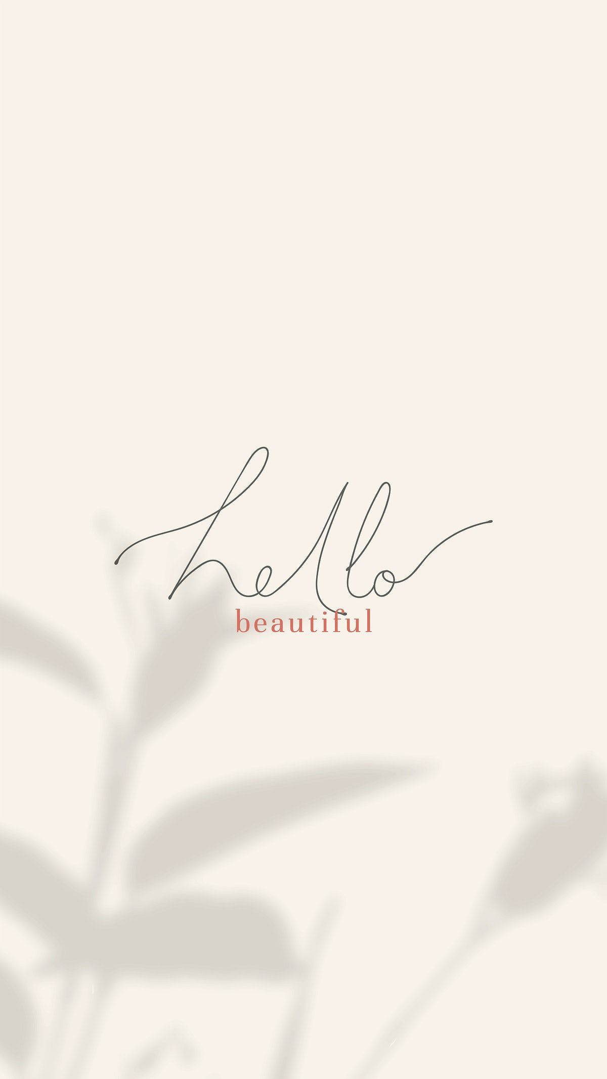Download free vector of Hello beautiful mobile wallpaper vector 2041761