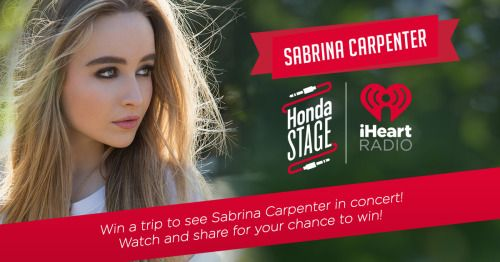 Win a trip to New Jersey to see Sabrina Carpenter in concert