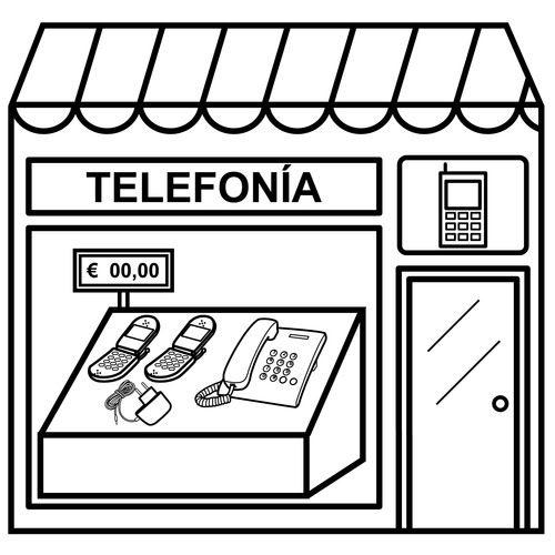 Dibujos De Tiendas Para Colorear Thema Winkel