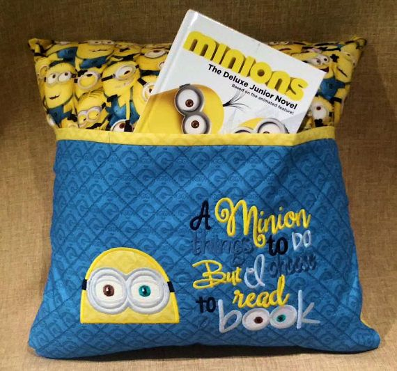 Child s bed pillow minion reading pillows