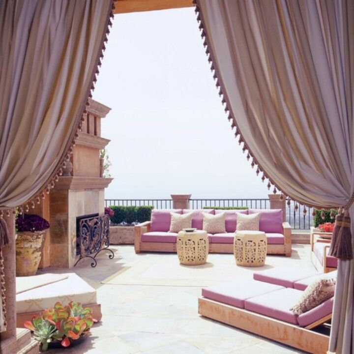 Middle eastern style...what I dream my backyard/porch will look like ...
