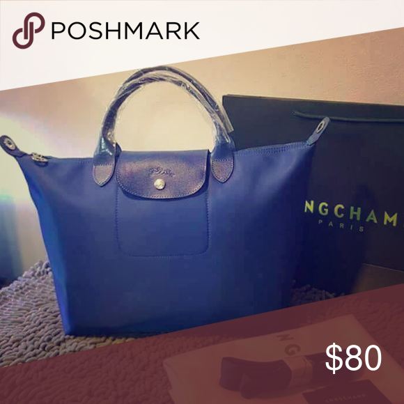 Longchamp Handbag Medium *Royal Blue* Brand new, authentic with tags  Longchamp Bags