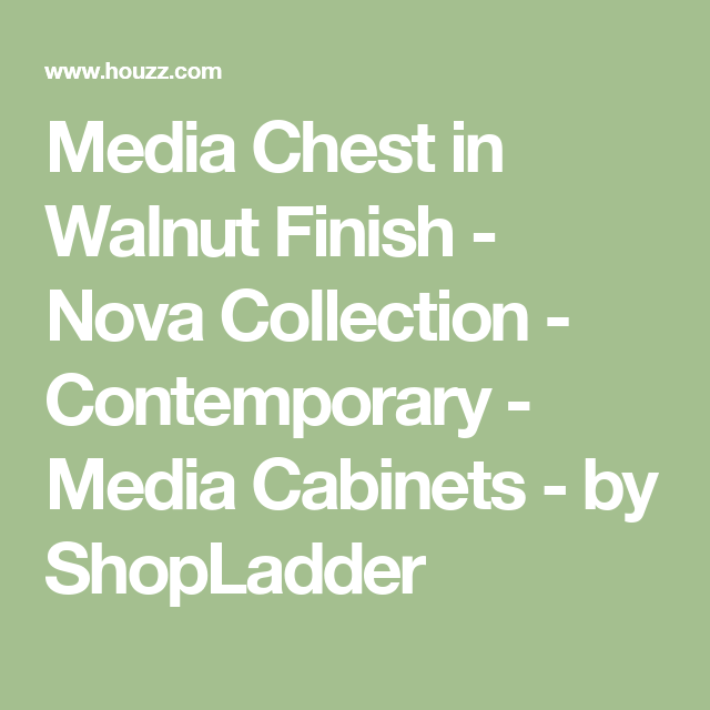 Media Chest In Walnut Finish Nova Collection