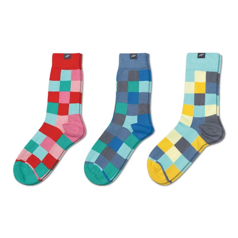 "3 Pairs of Socks - Gift Combo ""Pixelate"" by MINGA BERLIN 