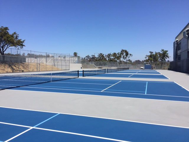 San Diego High School Tennis Court Restoration Project Tennis Court Tennis San Diego Basketball