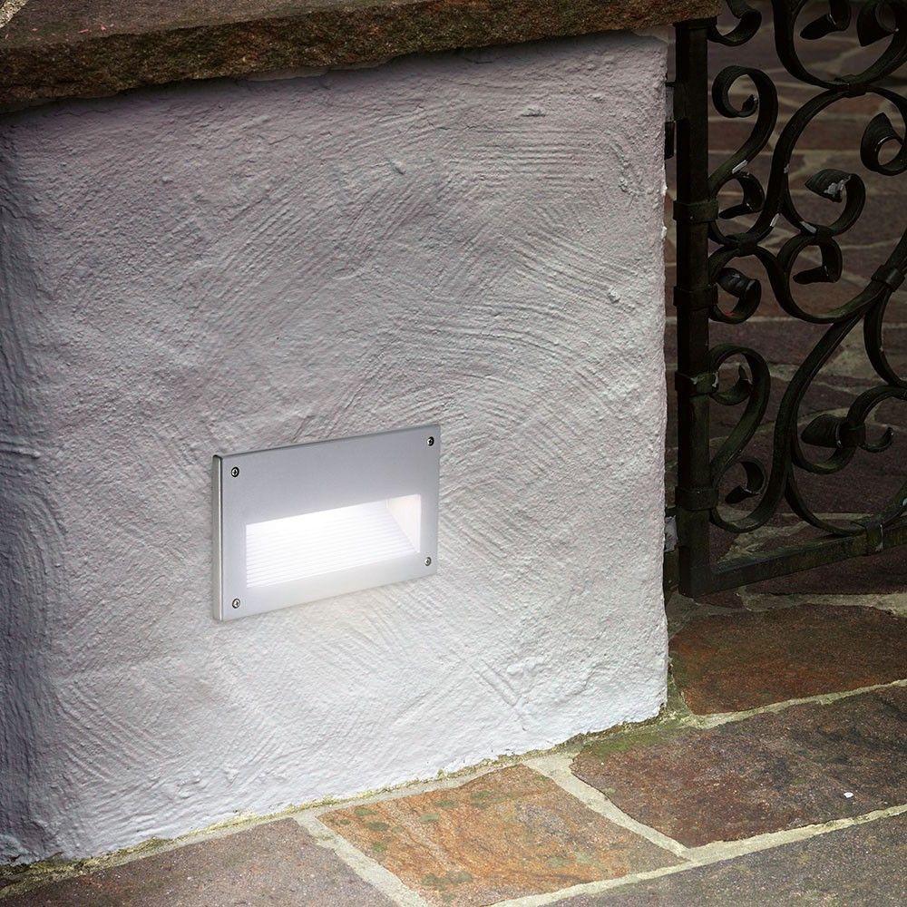 skapetze zimba aussen wandeinbauleuchte silber. Black Bedroom Furniture Sets. Home Design Ideas