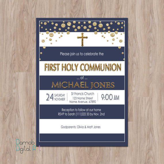First Communion Invitation Boy First Communion Invites Boy First