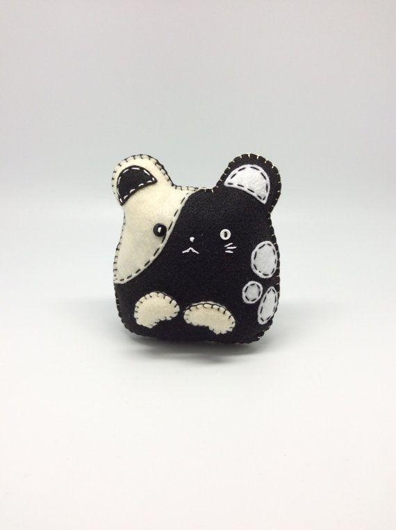 Hamster pet handmade in felt plush toy, soft sculpture toy, shelf sitter decor