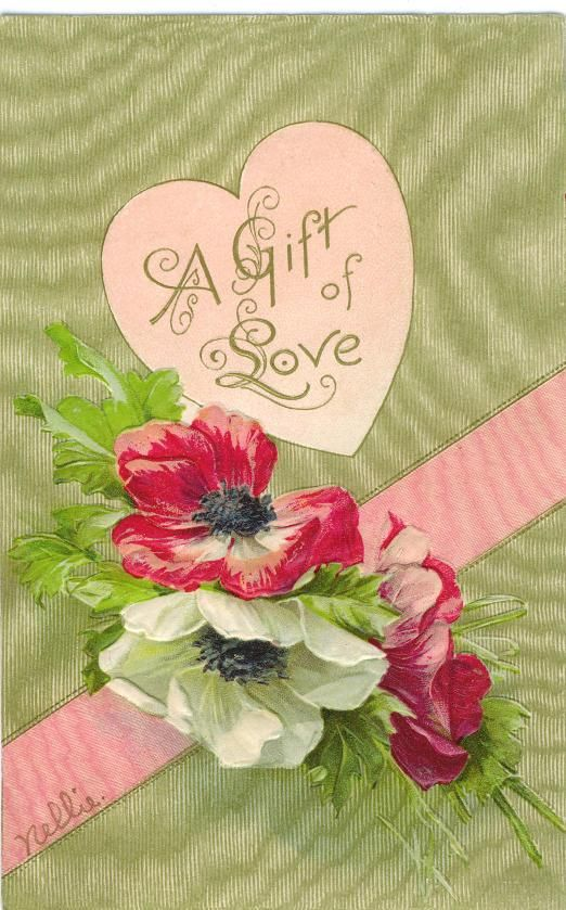 Free Victorian Valentine Cards Hearts and Flowers  Victorian