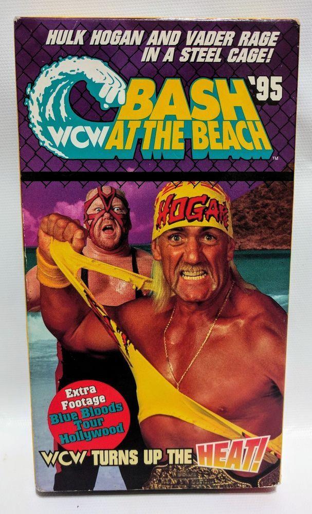 WCW BASH AT THE BEACH '95 (VHS, 1995) Hulk Hogan VS Vader Sting ...