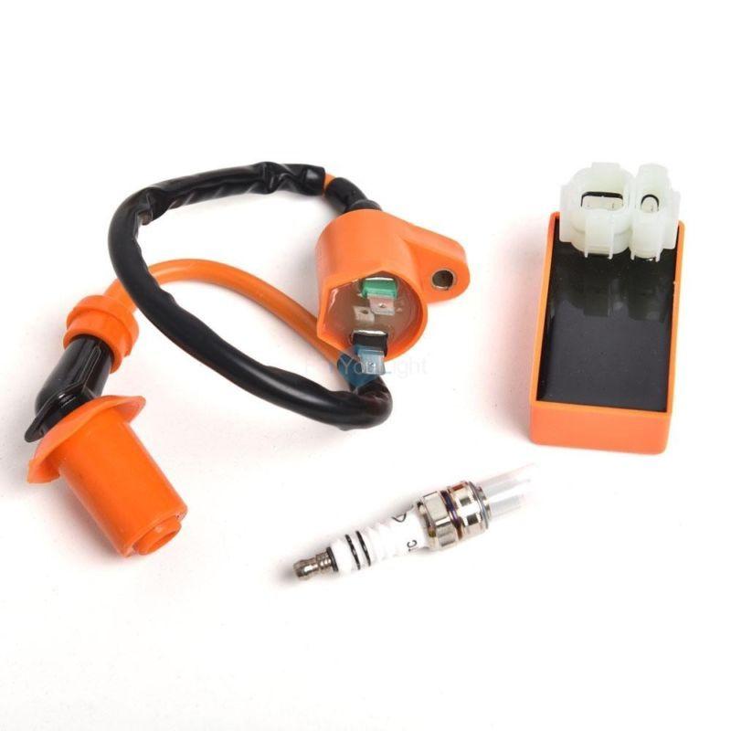 Racing CDI+ Ignition Coil + Spark Plug For Gy6 50cc 125cc
