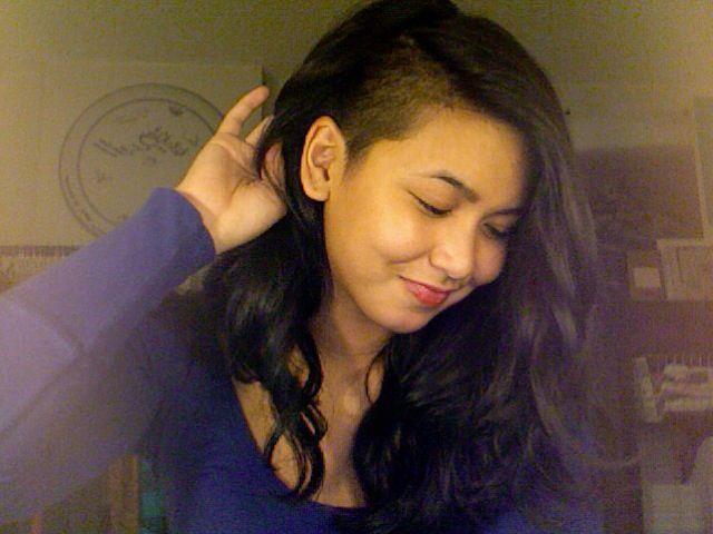 Half Shaved Head Hairstyle Half Shaved Hair Style  Hair  Pinterest  Hair Style Undercut And