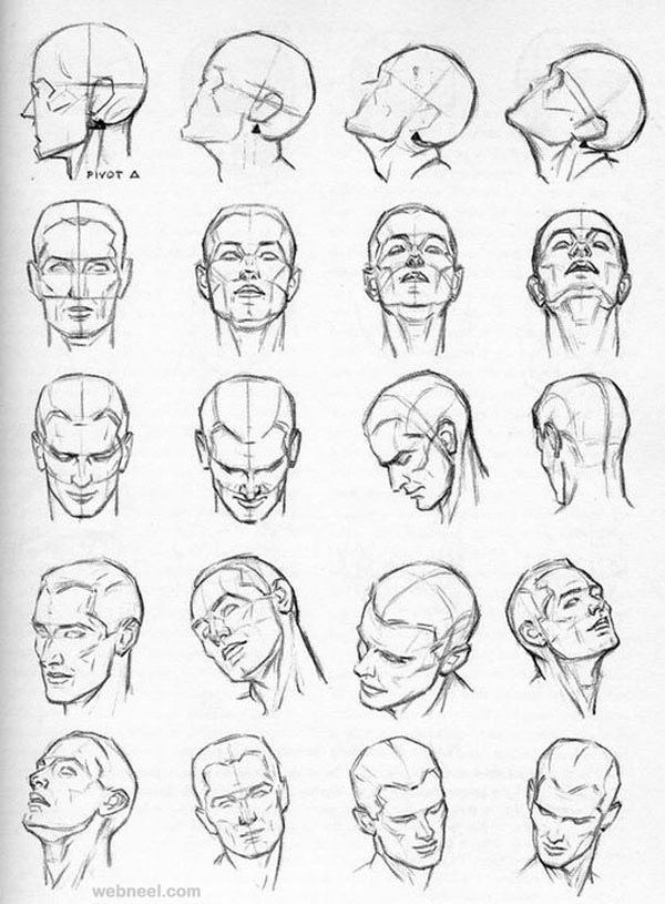 How to draw a face 25 step by step drawings and video tutorials read full article http webneel com how draw faces drawings more