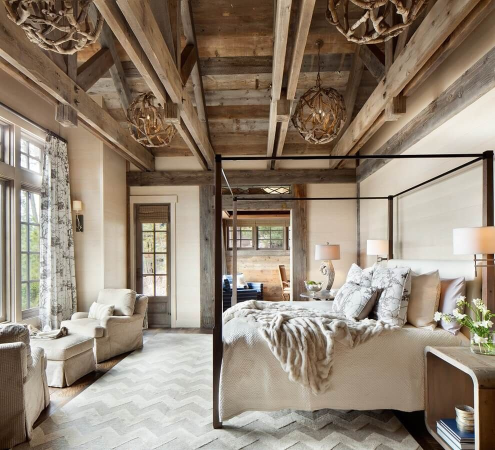 12 Country Bedroom Ideas 12 (Earthy and Cozy)  Rustic master