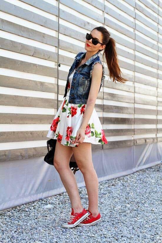 vestidos con tenis converse Buscar con Google | Fashion