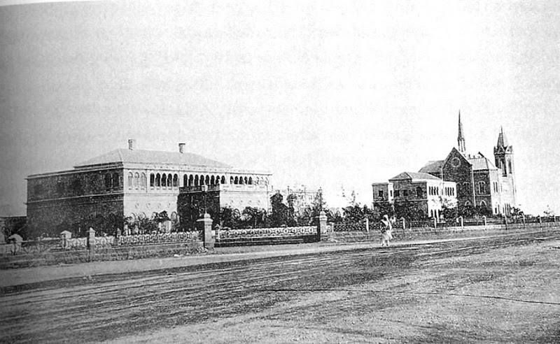 c. 1890s: Sindh Club and the Frere Hall - Karachi
