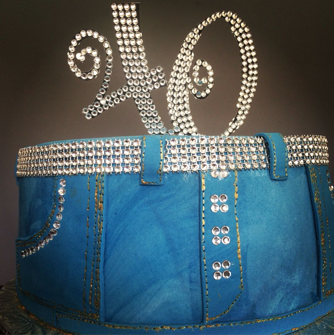Denim And Diamonds 40th Birthday Party Pinteres