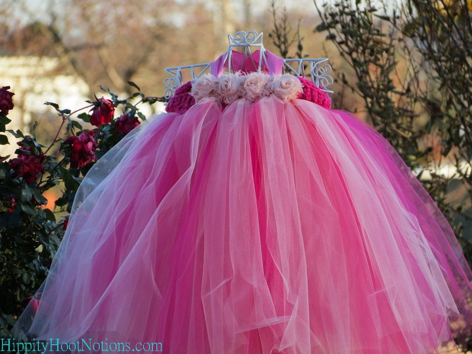 Pink and peach Tutus for my flower girls