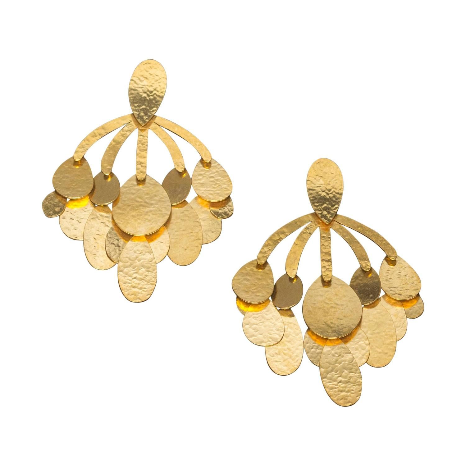 Herve Van Der Straeten Oversized Clip Earrings – Oversized Chandelier Earrings