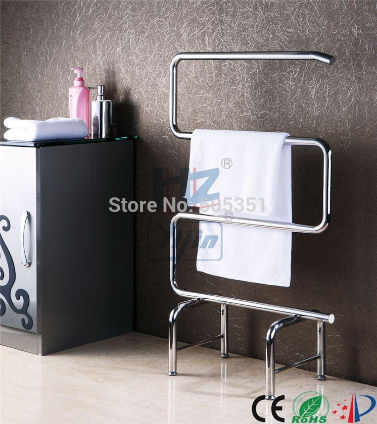 Free Standing Towel Warmer Electric Heated Towel Rail Stainless Steel Bathroom  Accessories Heated Towel Racks HZ